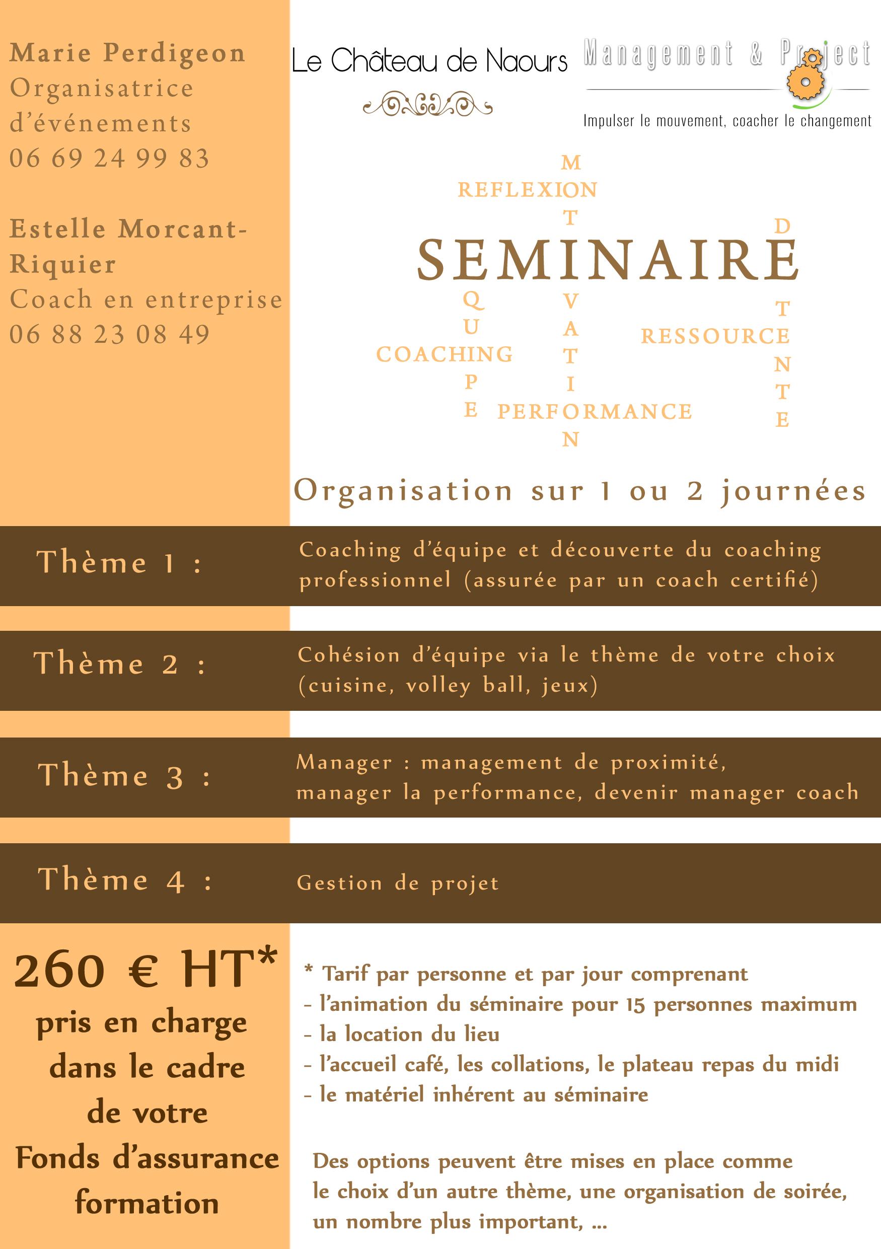 Marie POPin'S Event Château de Naours Management & Projet