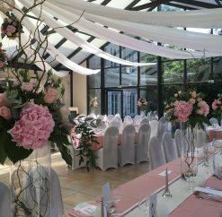 Mariage romantique vieux rose et blanc