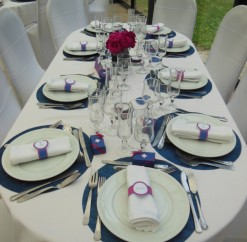 Mariage du 6 septembre 2014 – Fushia & Bleu marine